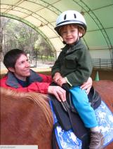 Cypress riding Tessa (with Erin)